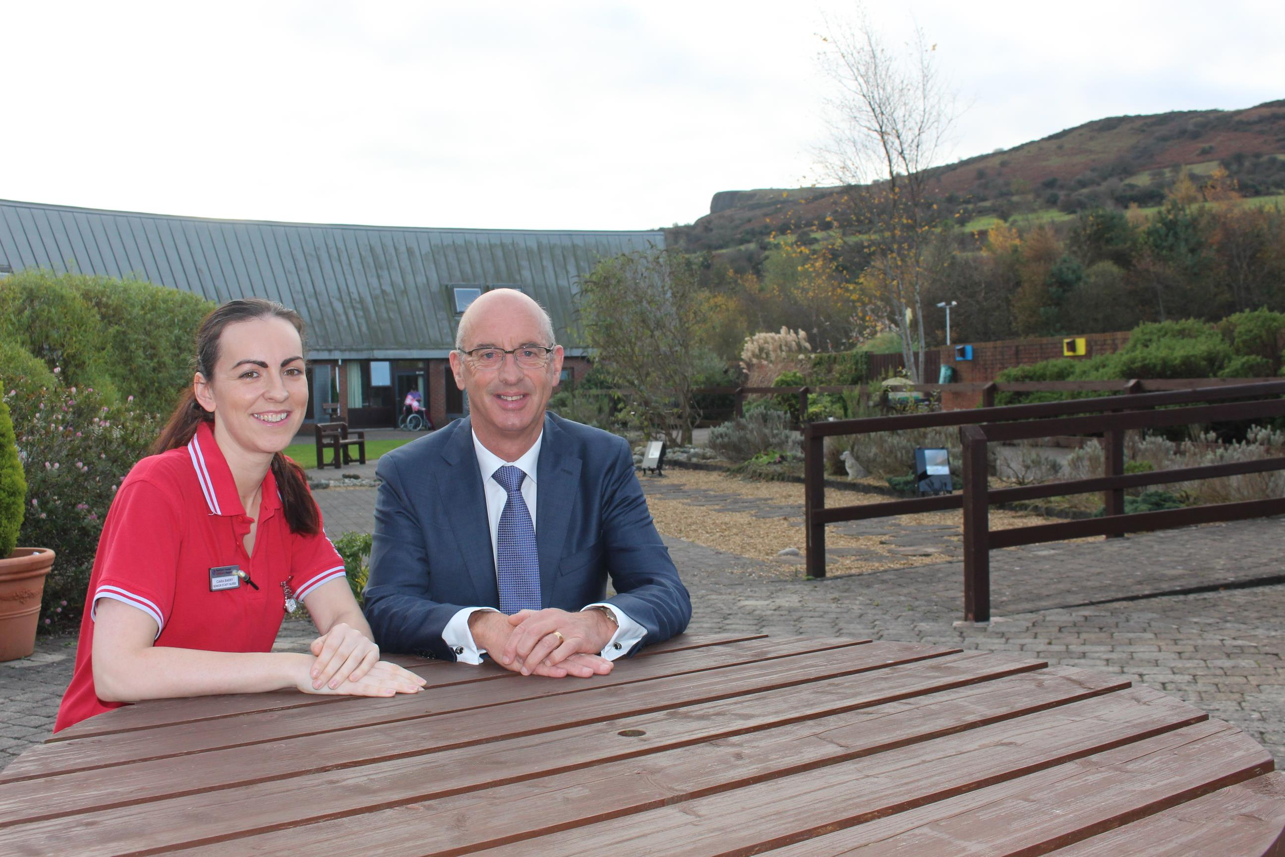 Nurse Ciara Barry and Pinnacle Chairman Ken Montgomery.jpg