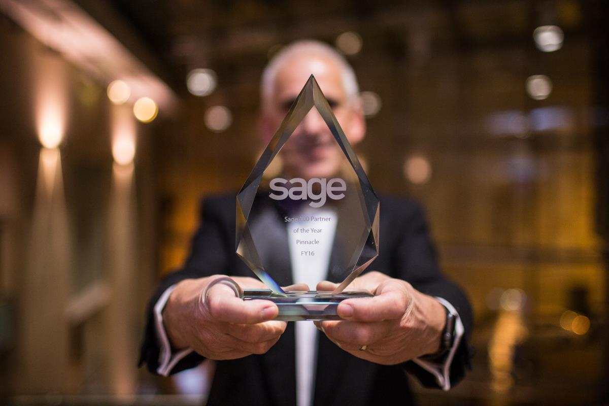 "Award Winning Sage Support from Pinnacle ""Sage Business Partner of the Year award"" in 2014, 2015 & 2016!"