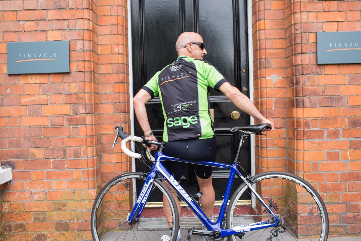 Ken Montgomery  Pinnacle Chairman to cycle London to Paris with Sage Life Cycle 2019.jpg